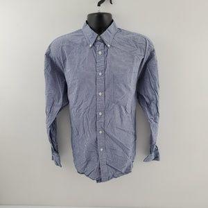 Gap Button down shirt plaid blue L F47